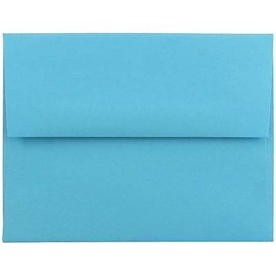 JAM Paper® A2 Invitation Envelopes, 4 3/8 x 5 3/4, Brite Hue Blue Recycled, 1000/carton (WDBH600B)