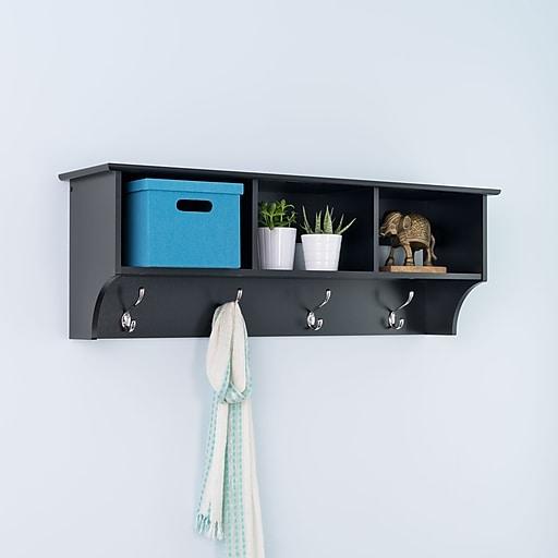 "Prepac™ Sonoma Entryway Cubbie Shelf, 48"" x 11.5"", Black"