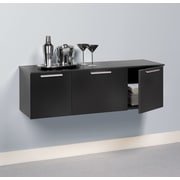 Prepac™ Coal Harbor Wall Mounted Buffet, Black