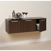 Prepac™ Coal Harbor Wall Mounted Buffet, Espresso