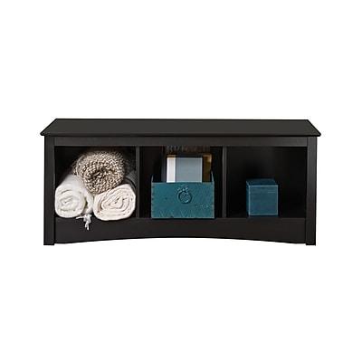 Prepac™ Composite Wood Cubbie Bench, Black