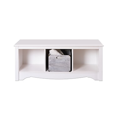 Prepac™ Composite Wood Cubbie Bench, White