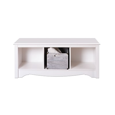 Prepac™ Composite Wood Cubbie Bench, White