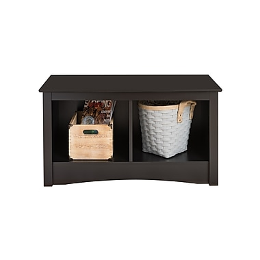 Prepac™ Composite Wood Twin Cubbie Bench, Black