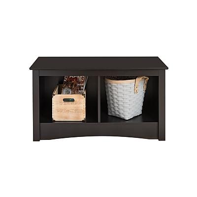Prepac™ Composite Wood Twin Cubbie Bench, Black