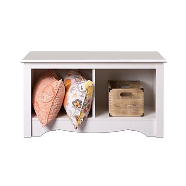 Prepac™ - Banc Cubbie en bois composite, 2 compartiments, blanc