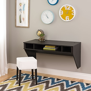 Prepac™ Designer Floating Desk, Ebony