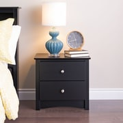 "Prepac™ 21-3/4"" Sonoma 2 Drawer Nightstand, Black"
