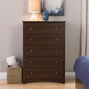 "Prepac™ 45.25"" Fremont 5 Drawer Chest, Espresso"