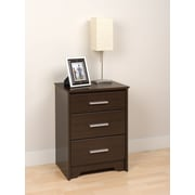 "Prepac™ 27"" Coal Harbor 3 Drawer Tall Nightstand, Espresso"