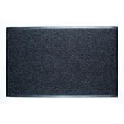Dura Nop - Tapis d'entrée, 3 pi x 5 pi (avec bordure), charbon