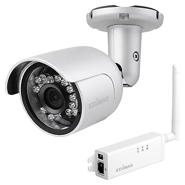 Edimax HD Wi-Fi Mini Outdoor Network Camera, 11 x 7 x 4.5, Clear, 12/ctn (IC-9110W)