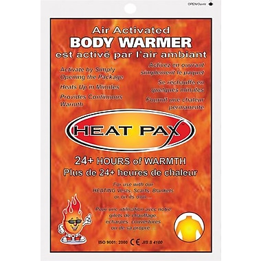 TechNiche Heat Pax™ Air Activated 24+ Hour Body Warmer, 240 Units