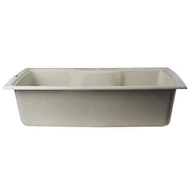Alfi Brand 34.63'' x 19.69'' Drop-In Single Bowl Kitchen Sink; Biscuit
