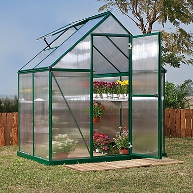Palram Nature Twin Wall 6 Ft. W x 4 Ft. D Greenhouse; Green