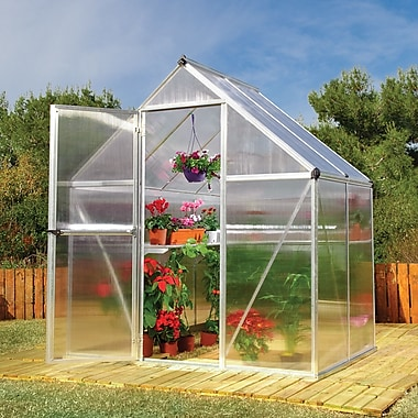 Palram Nature Twin Wall 6 Ft. W x 4 Ft. D Greenhouse; Sliver