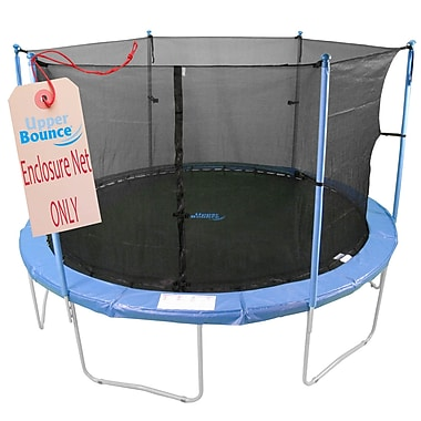 Upper Bounce 8' Round Trampoline Enclosure Net Using 4 Poles or 2 Arches