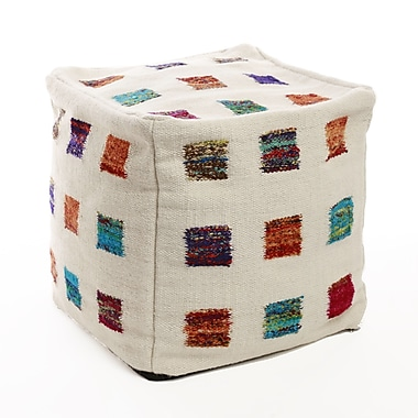 Best Home Fashion, Inc. Colorful Patchwork Pouf Cover