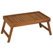 BareDecor Coco Bed Tray Table in Solid Teak Wood