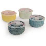 Signature Housewares Embossed Word 8-Piece Storage Bowl Set (Set of 4)