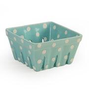 Signature Housewares Dots Berry Basket (Set of 4); Aqua