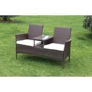 SunTime Outdoor Living Forres Wicker Tete-a-Tete Bench