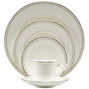 Nikko Ceramics Platinum Beaded Pearl 5 Piece Place Setting