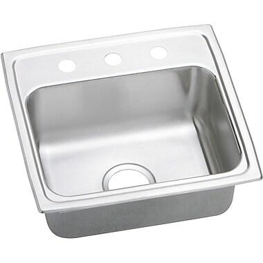 Elkay Gourmet 19'' x 18'' Lustertone Kitchen Sink; 3 Holes