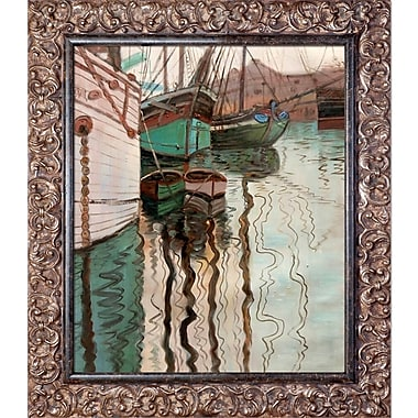 La Pastiche 'Harbor of Trieste, 1907' by Egon Schiele Framed Painting Print