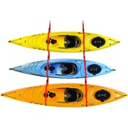 Malone Auto Racks SlingThree  Triple Kayak Storage System Ceiling/Wall Mounted Kayak Rack