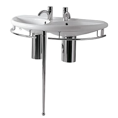 Whitehaus Collection China 38'' Console Bathroom Sink w/ Overflow