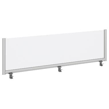 Bush Business Furniture – Panneau écran de confidentialité 72 po, givré, en acrylique givré/aluminium anodisé (PSP172FR)
