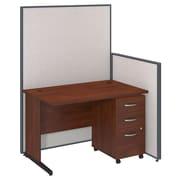 Bush Business Furniture 48W C-Leg Desk and 3 Drawer Mobile Pedestal with ProPanels, Light Gray (PPC024LG)