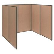 Bush Business Furniture ProPanels 72W x 72D x 66H Open Cubicle Configuration, Harvest Tan (PPC001HT)