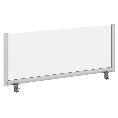 Bush Business Furniture 48W Desk Top Privacy Screen , Frosted Acrylic/Anodized Aluminum (PSP148FR)