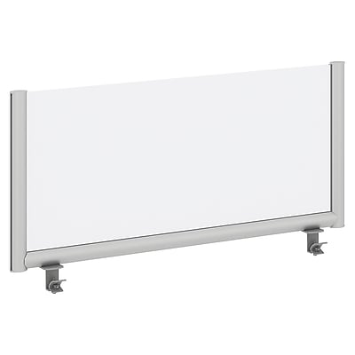 Bush Business Furniture 42W Desk Top Privacy Screen, Frosted Acrylic/Anodized Aluminum (PSP142FR)