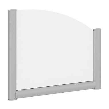 Bush Business Furniture 24W Side Desk Top Privacy Screen, Frosted Acrylic/Anodized Aluminum (PSP124FR)