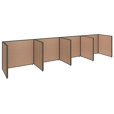Bush Business Furniture ProPanels 4 Person Open Cubicle Office, Harvest Tan (PPC014HT)