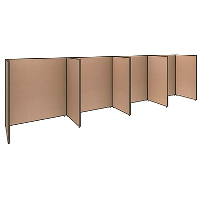 Bush Business Furniture ProPanels 4 Person Open Cubicle Office, Harvest Tan (PPC008HT)