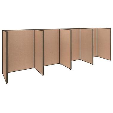 Bush Business Furniture ProPanels 4 Person Open Cubicle Office, Harvest Tan (PPC007HT)
