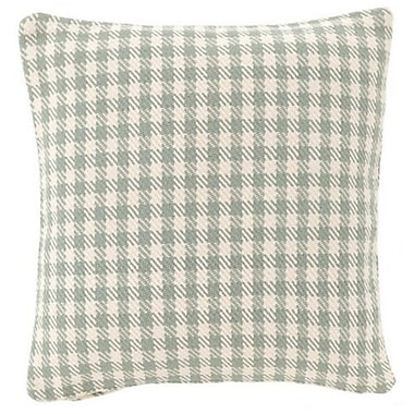 Fresh American Houndstooth Indoor/Outdoor Throw Pillow; Light Blue