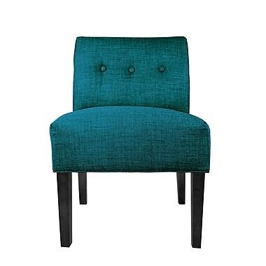 MJLFurniture Key Largo Slipper chair; Zenith Teal