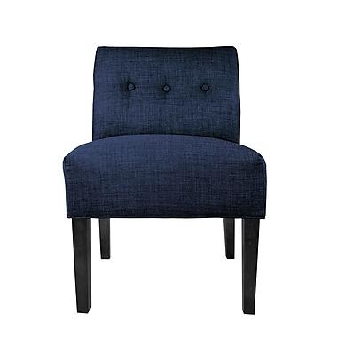 MJLFurniture Lucky Slipper Chair; Denim