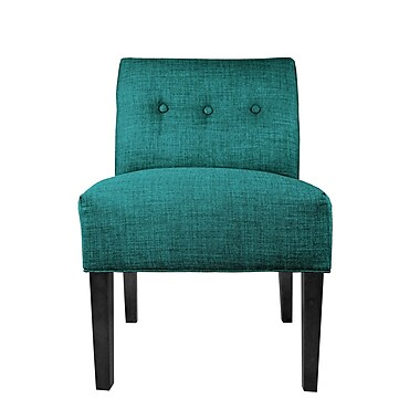 MJLFurniture Lucky Slipper Chair; Turquoise