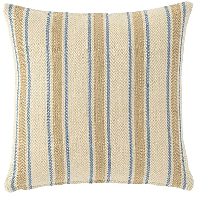 Fresh American Cambridge Indoor/Outdoor Throw Pillow; French Blue