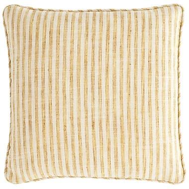 Fresh American Adams Ticking Indoor/Outdoor Throw Pillow; Gold