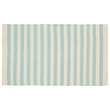 Madison Home Cabana Handmade Light Blue Indoor/Outdoor Area Rug; 4' x 6'