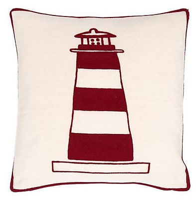 Fresh American Lighthouse Indoor/Outdoor Throw Pillow