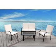 SunTime Outdoor Living Florida 4 Piece Seating Group w/ Cushions