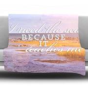 KESS InHouse I Need The Sea by Rachel Burbee Fleece Throw Blanket; 60'' H x 50'' W x 1'' D